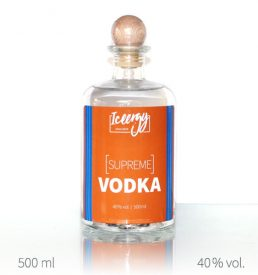 Vodka Supreme mit eigenem Label