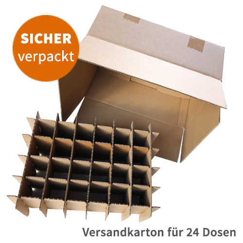 Versandkarton für 24 Getraenkedosen