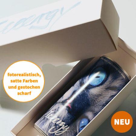 individuelle GESCHENKBOX - Lackdose mit Direktdruck inkl. Box
